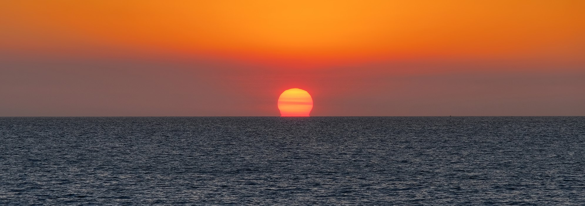 The sun sets over the Timor Sea, as seen from Darwin, August 2017 (Photo: Flickr/Geoff Whalan)