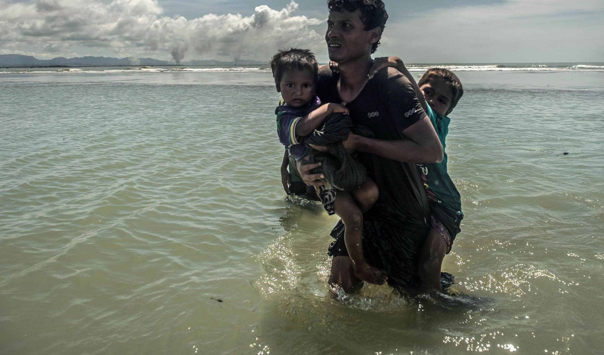 Rohingya refugees in Bangladesh in September 2017 (Photo: CAFOD Photo Library/Flickr)