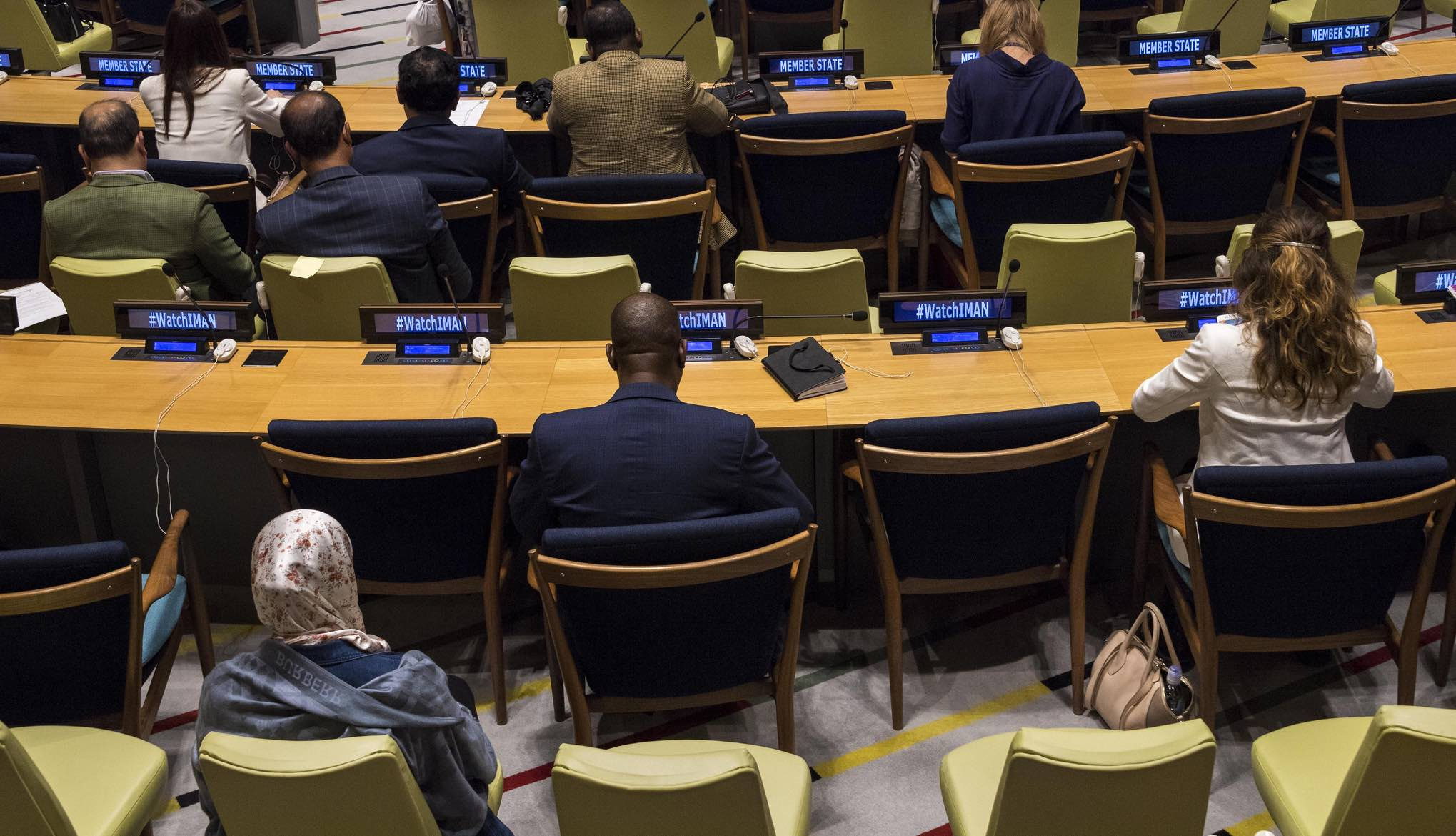 A film presentation during a UN panel in August on countering violent extremism (Photo: UNDP/Flickr)
