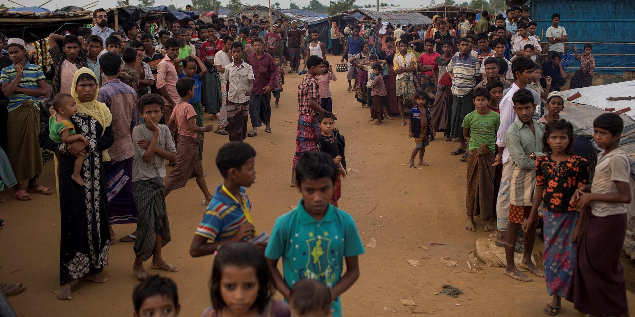 Rohingya in Bangladesh, October 2017 (Photo: EU/ECHO/Flickr)