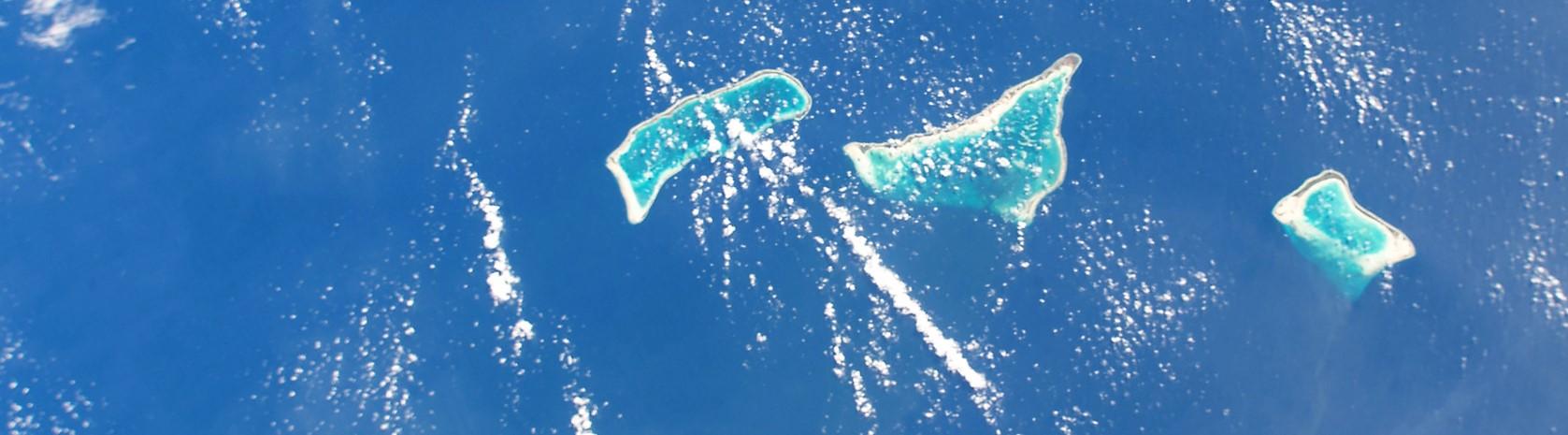 The islands of Abaiang, Tarawa and Maiana, Kiribati, November 2017 (Photo: NASA Johnson/Flickr)