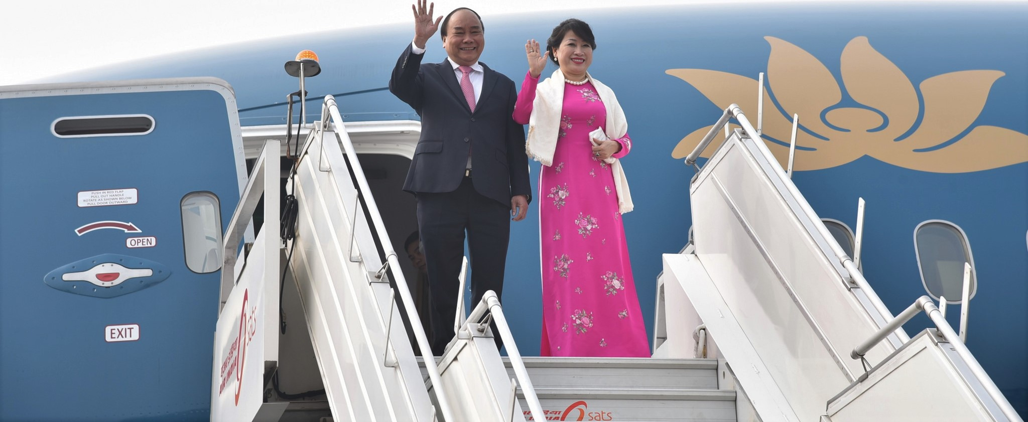 Vietnamese Prime Minister Nguyễn Xuân Phúc arrives in India for the ASEAN-India Commemorative Summit, January 2018 (Photo: MEAphotogallery/Flickr)