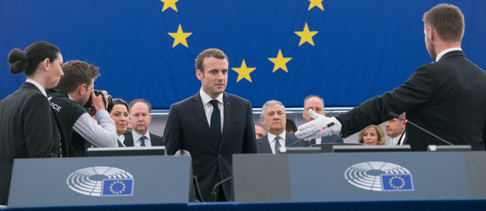 French President Emmanuel Macron debates the future of Europe (Photo: European Parliament/Flickr)