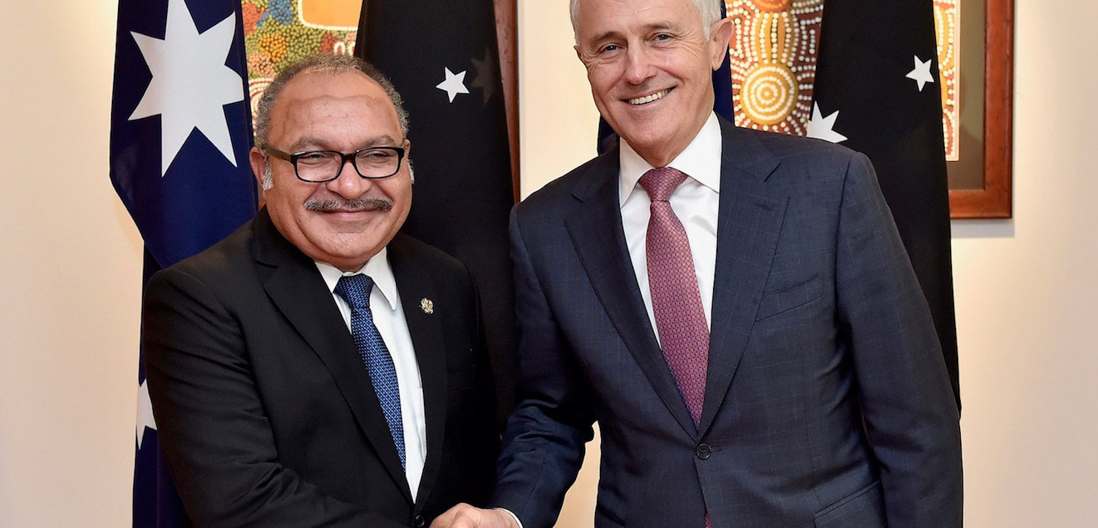 PNG Prime Minister Peter O'Neill with Australia's Malcolm Turnbull in July (Photo: PM&C/Flickr)