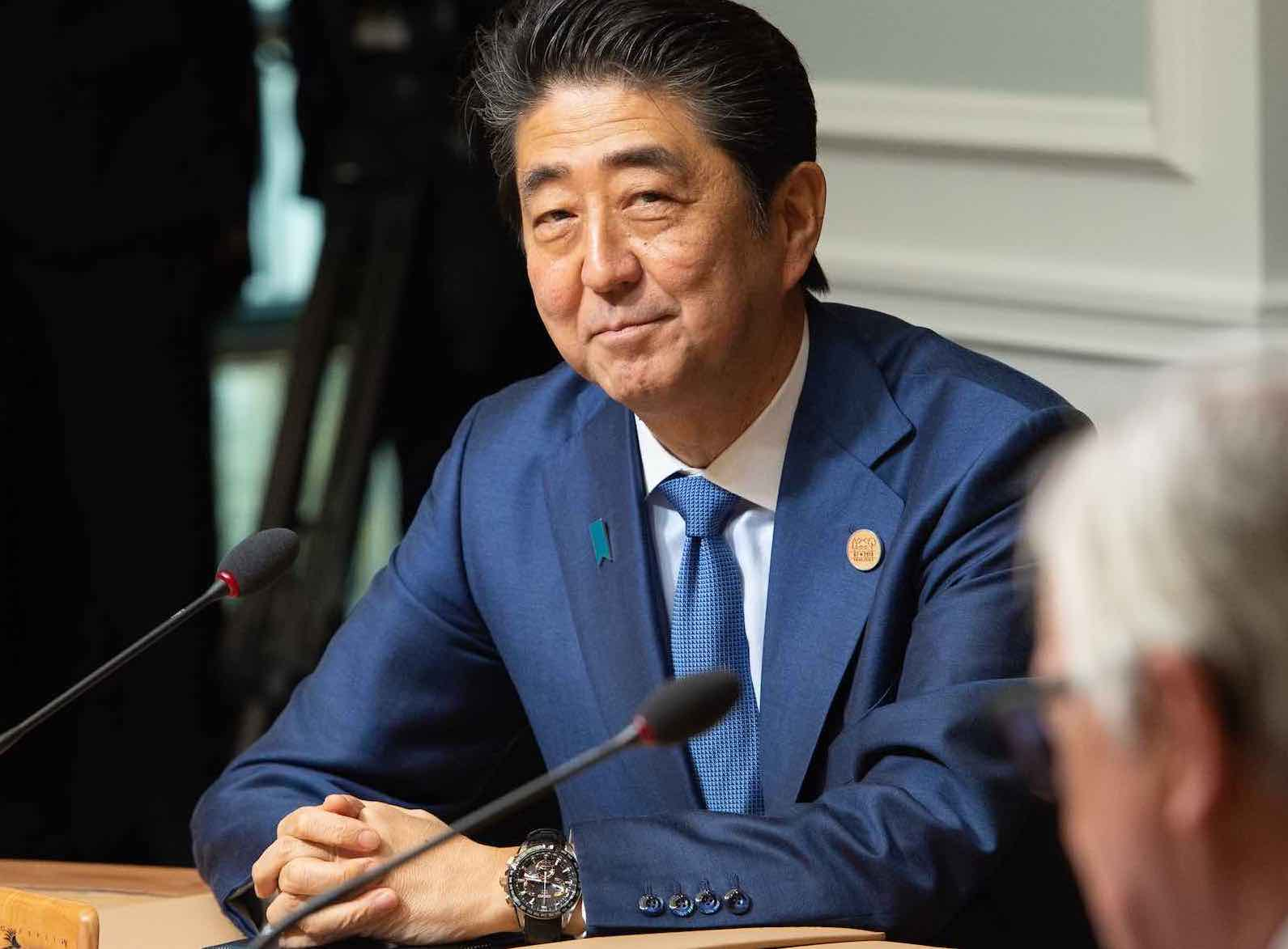 Japanese Prime Minister Shinzo Abe at the G7 summit (Photo: #G7Charlevoix/Flickr)