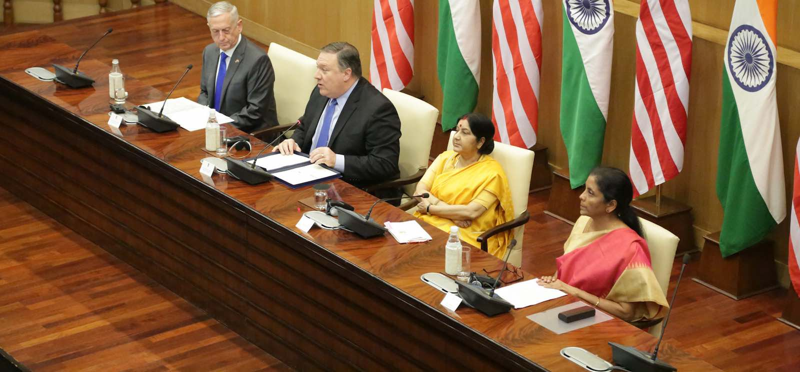 The India-US 2 + 2 Dialogue (Photo: State Department/Flickr)