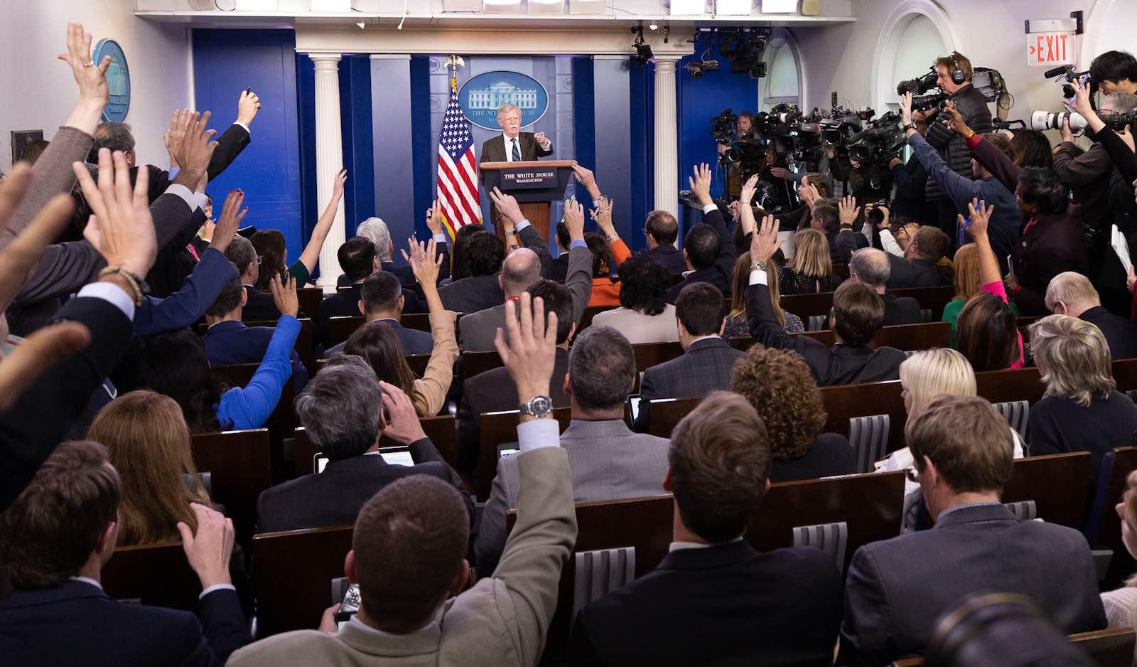 Now former National Security Advisor John Bolton (Photo: Keegan Barber/White House)