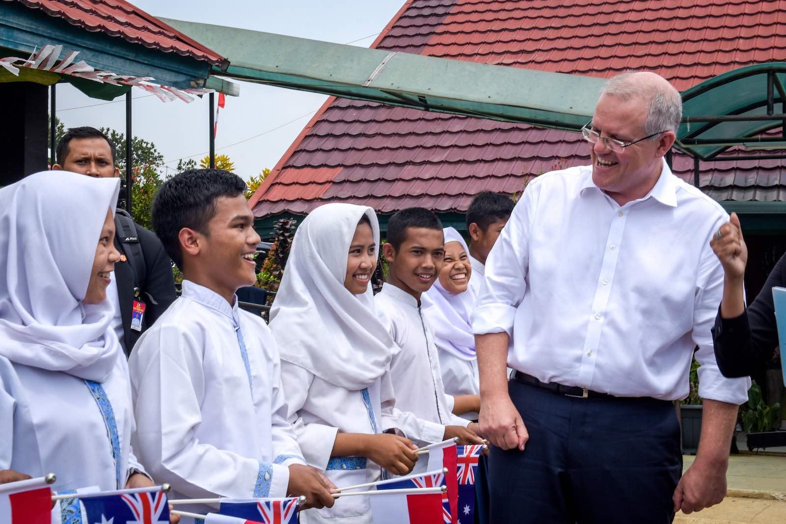 Prime Minister Scott Morrison in Indonesia in August 2018 (Photo: Australian Embassy Jakarta/Flickr)