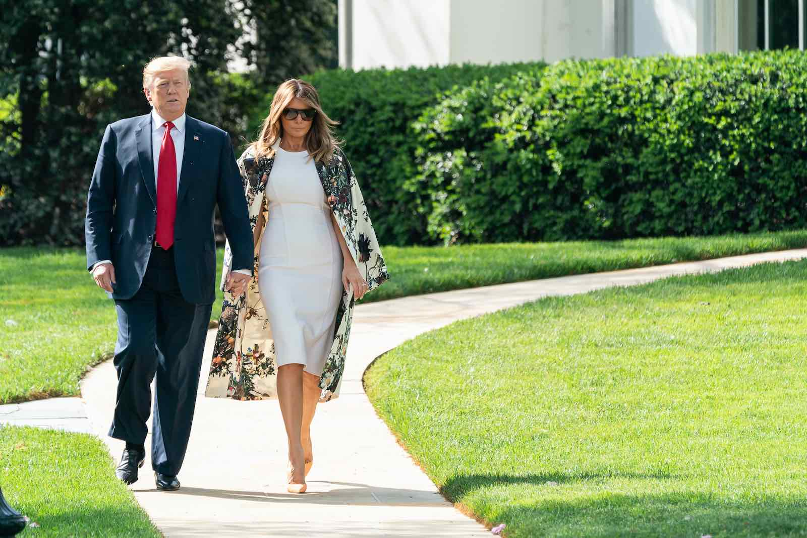US President Donald Trump and First Lady Melania Trump (White House/Flickr)