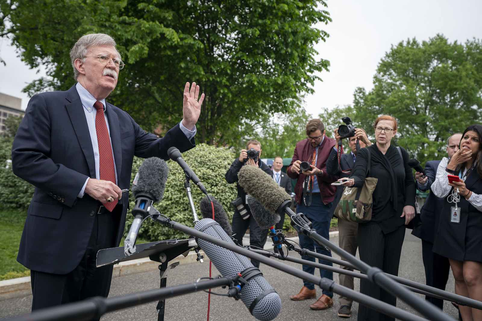 National Security Advisor John Bolton speaks to reporters outside the West Wing, May 2019 (Photo: The White House/Flickr)