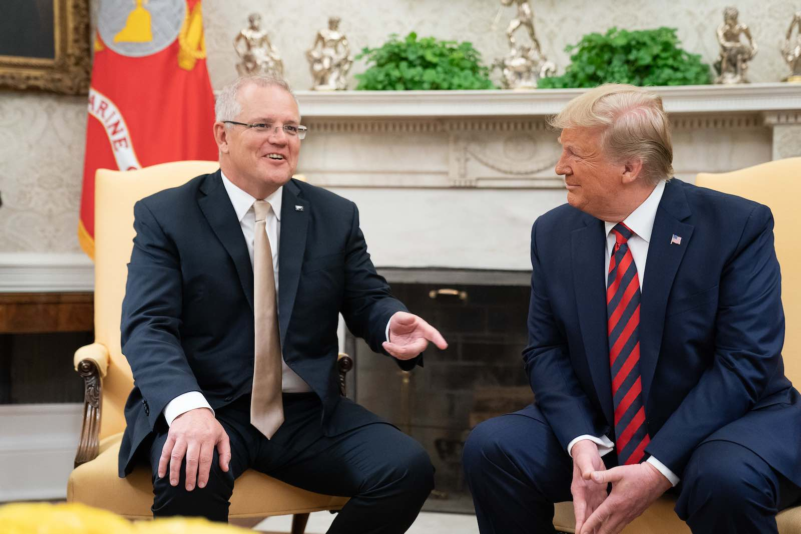 Prime Minister Scott Morrison (L) meeting with US President Donald Trump at the White House in September this year (Photo: White House/Flickr)