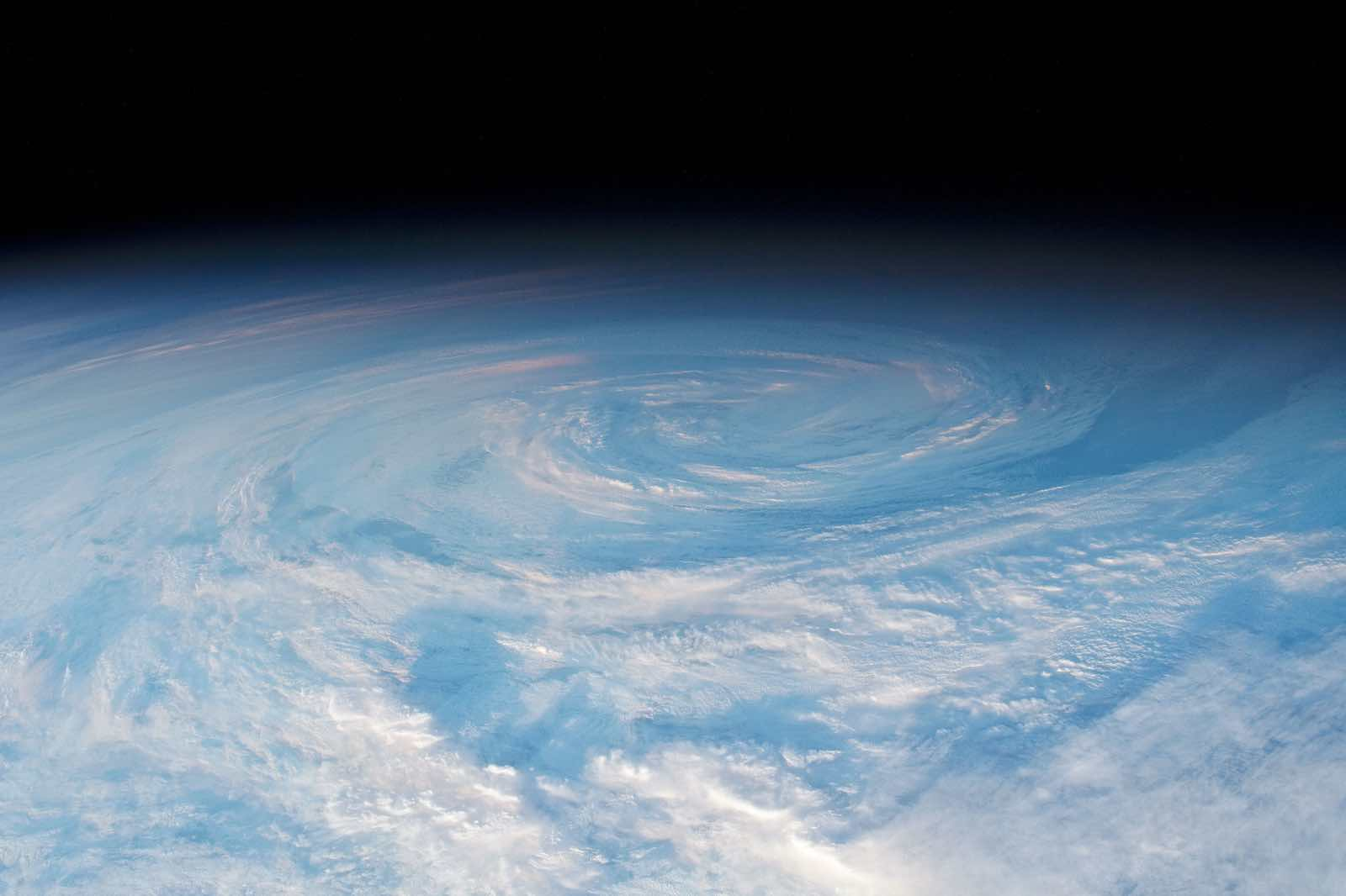 The South Pacific swirl (Photo: NASA)