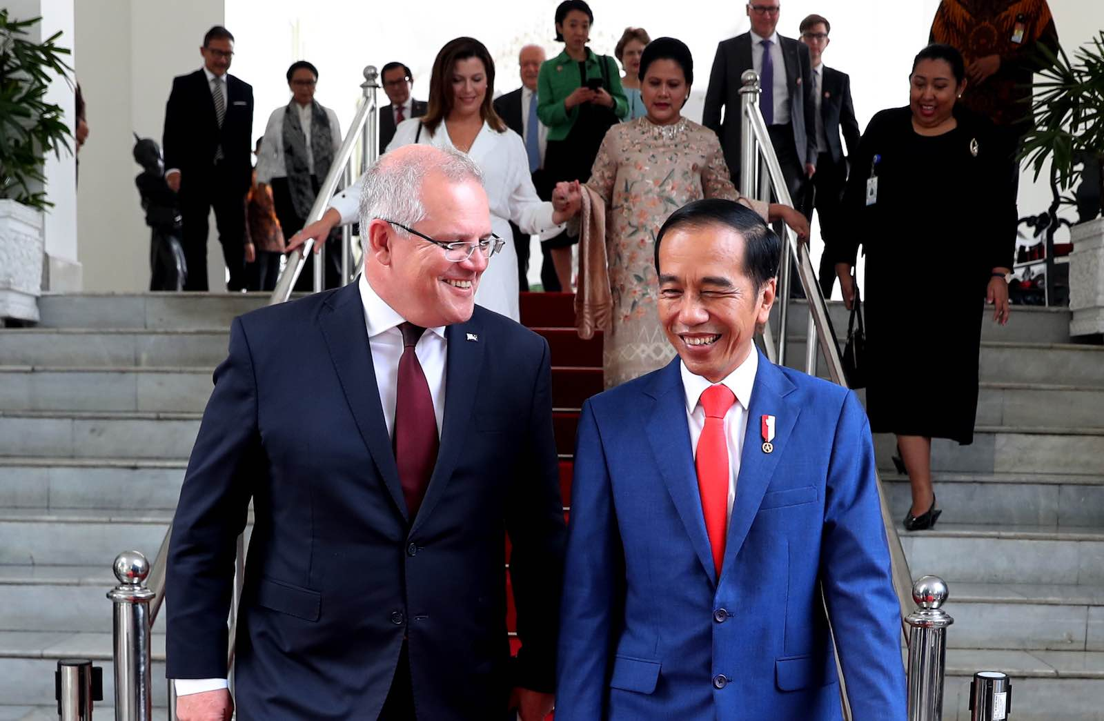 Australia's Scott Morrison and Indonesia's Joko Widodo in October 2019 (Photo: Australian Embassy Jakarta/Flickr)