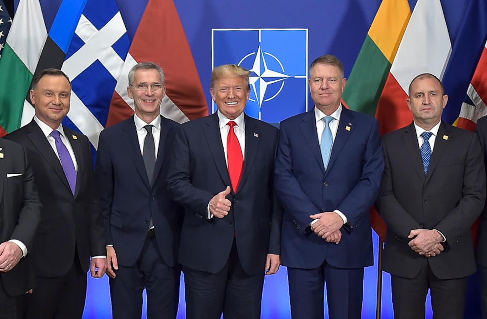 A working lunch including Poland's President Andrzej Duda, NATO Secretary General Jens Stoltenberg, US President Donald Trump, Romanian President Klaus Werner Iohannis, Bulgarian President Rumen Radev (Photo: NATO/Flickr)