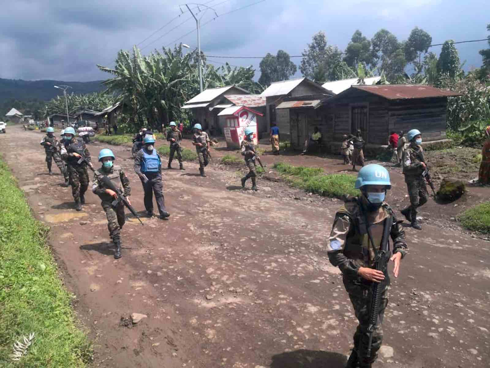 UN Peacekeepers from Morocco patrol a village in North Kivu province, Democratic Republlic of Congo, 9 May 2020 (MONUSCO Photos/Flickr)
