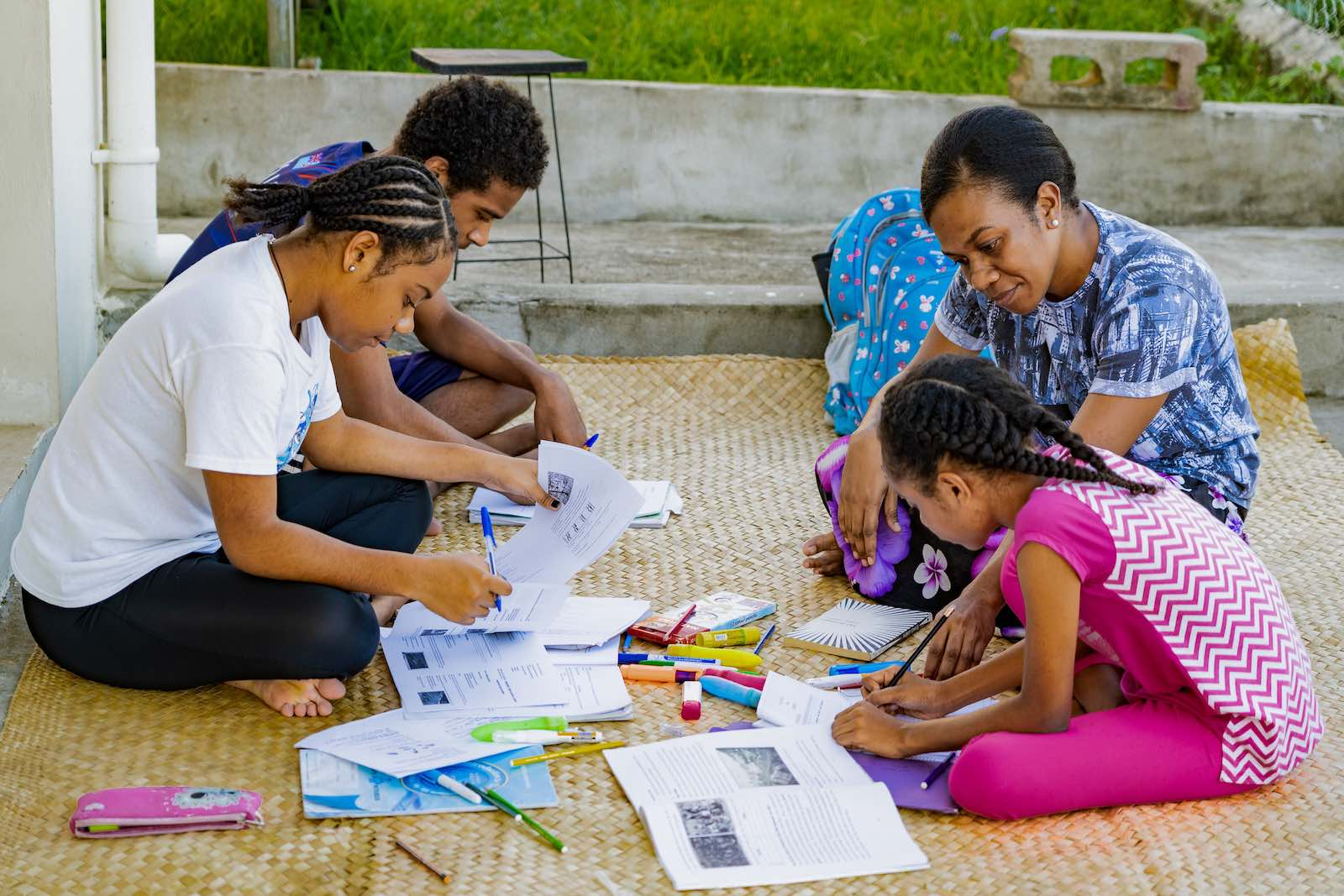 Home schooling in Fiji during the Covid-19 lockdown (Asian Development Bank/Flickr)