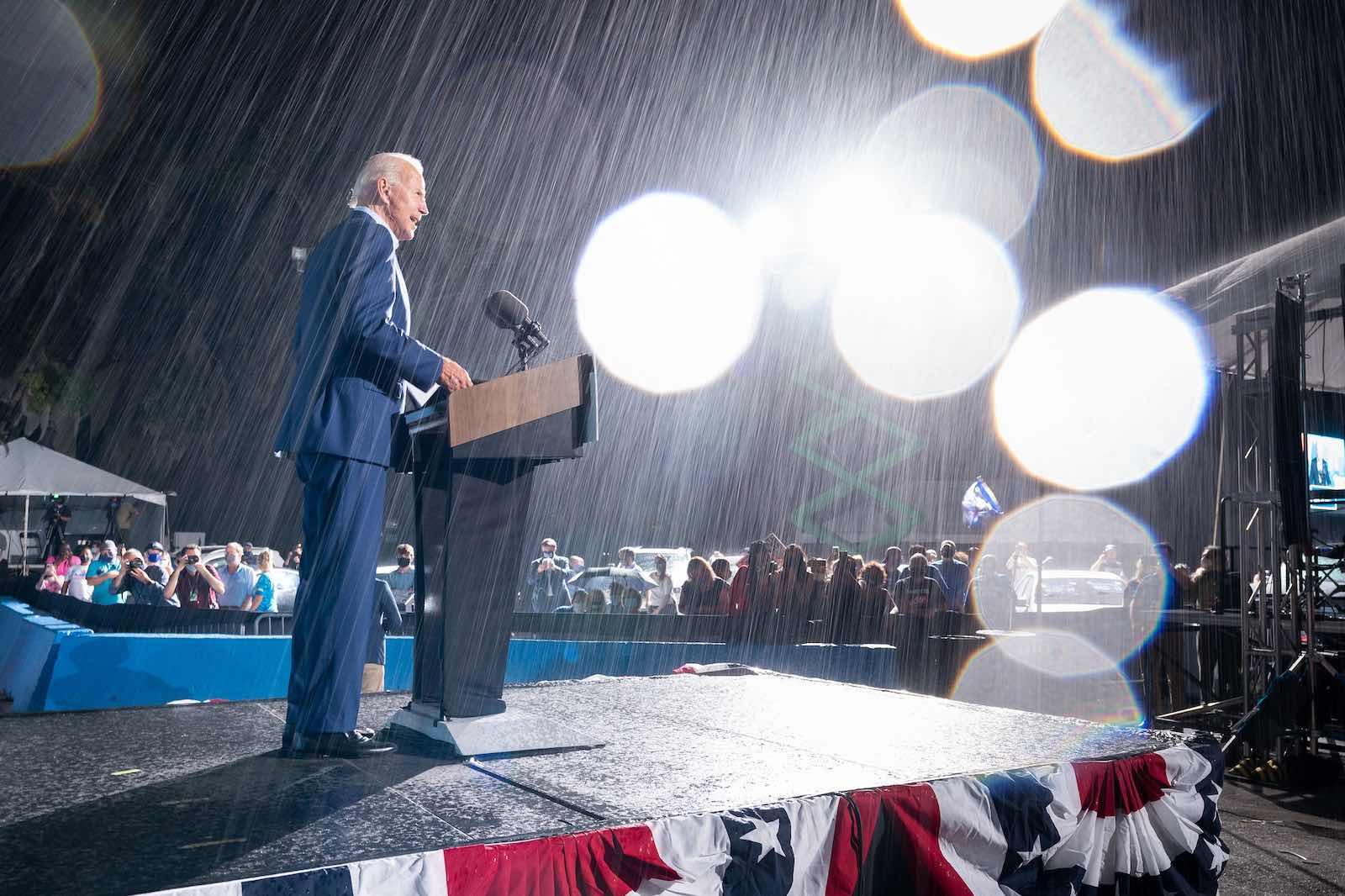 Joe Biden speaking at a campaign rally in Tampa, Florida, 29 October 2020 (Joe Biden/Flickr)