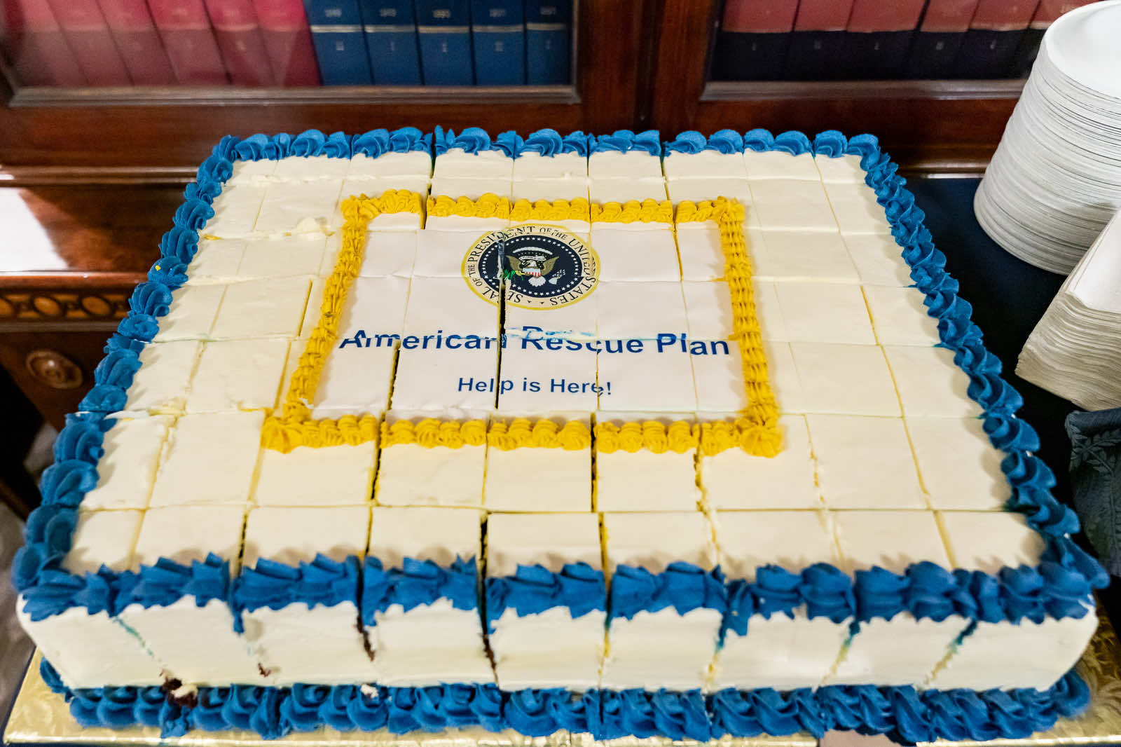 Celebrating the signing of the American Rescue Plan (Carlos Fyfe/White House/Flickr)