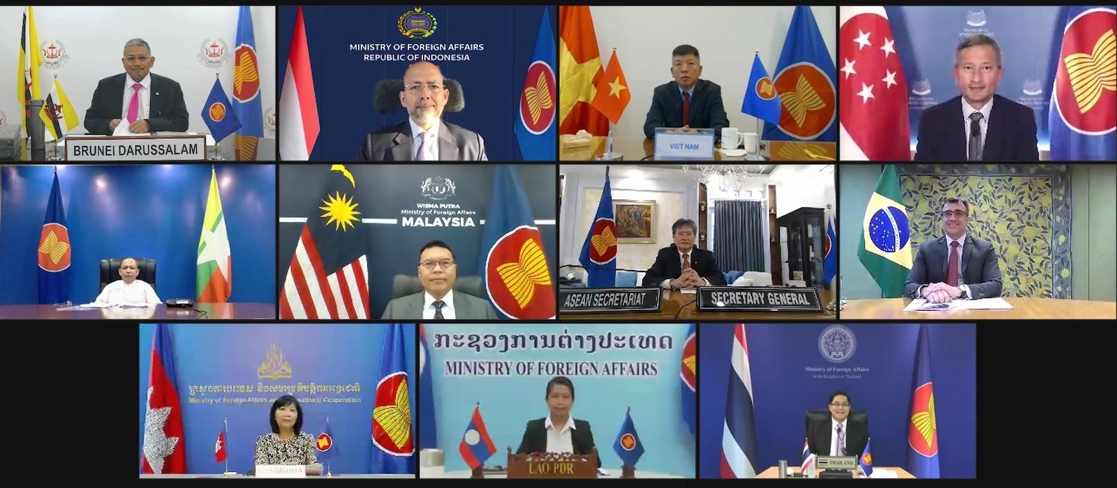 A screenshot of the ASEAN Brazil Open Ended Trioka Dialogue in August (Ministério das Relações Exteriores/Flickr)