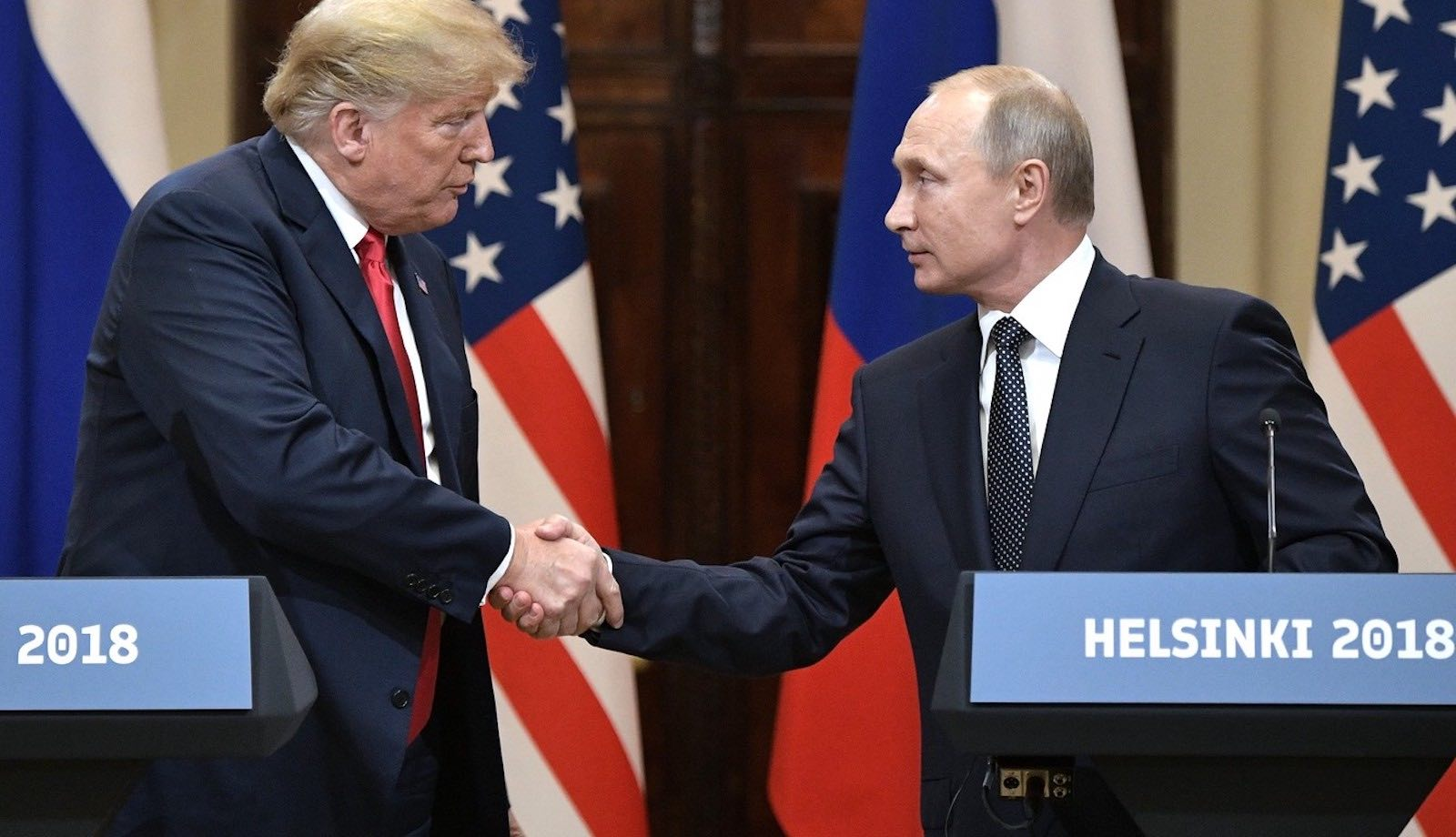 Donald Trump and Vladimir Putin at a joint press conference in Helsinki (Photo: Kremlin.ru)