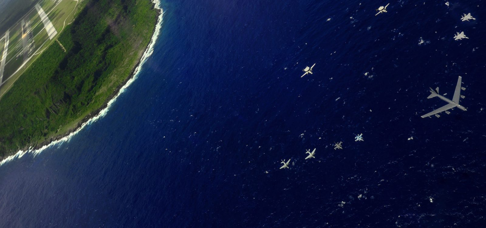 Flying over Andersen Air Force Base, Guam (Photo: US Air Force/Flickr)