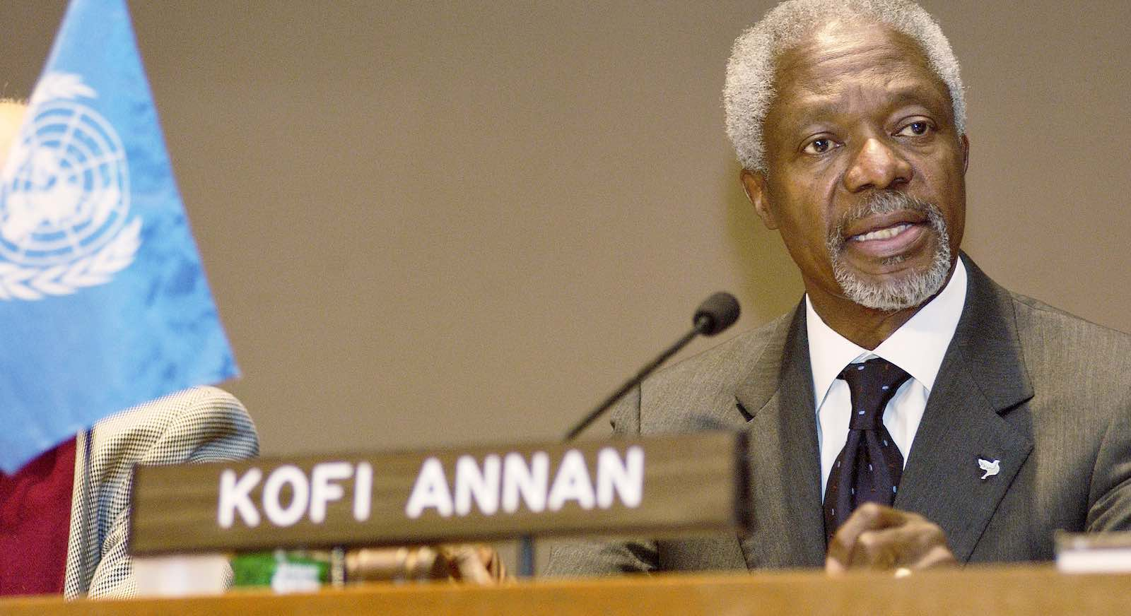 Kofi Annan, in 2004, during his term as UN Secretary General (Photo: Mark Garten/UN)