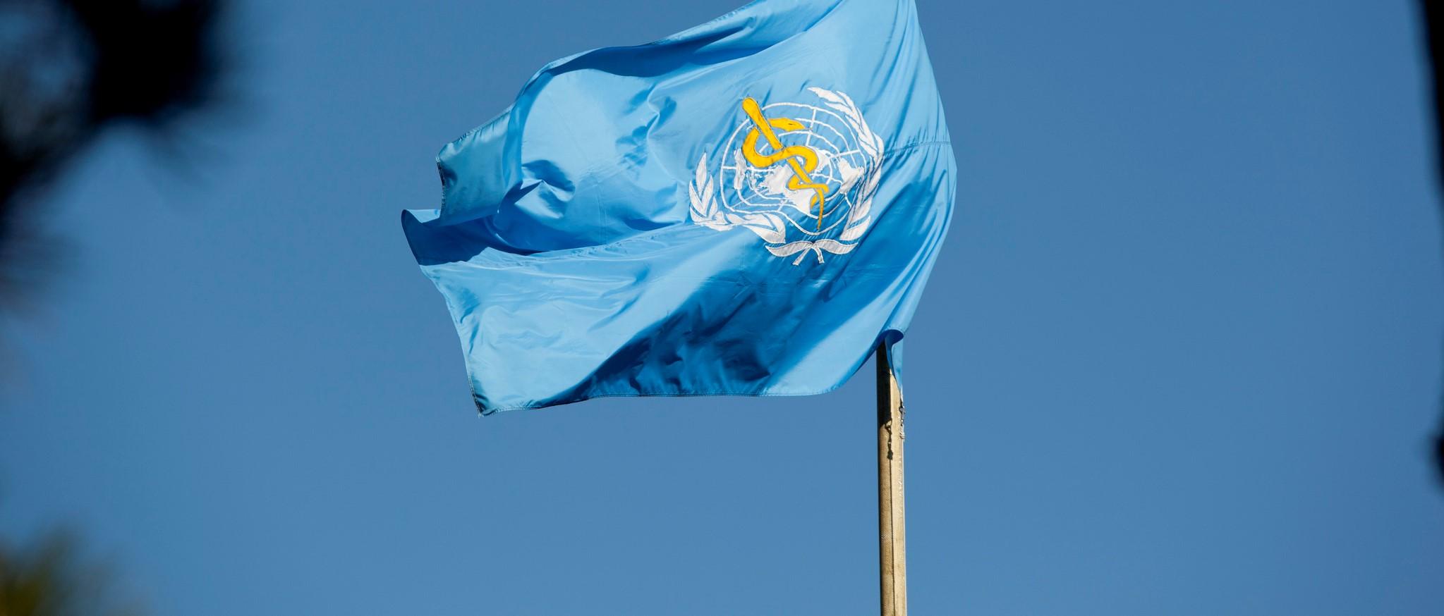 The World Health Organization flag (Photo: US Mission Geneva/Flickr)