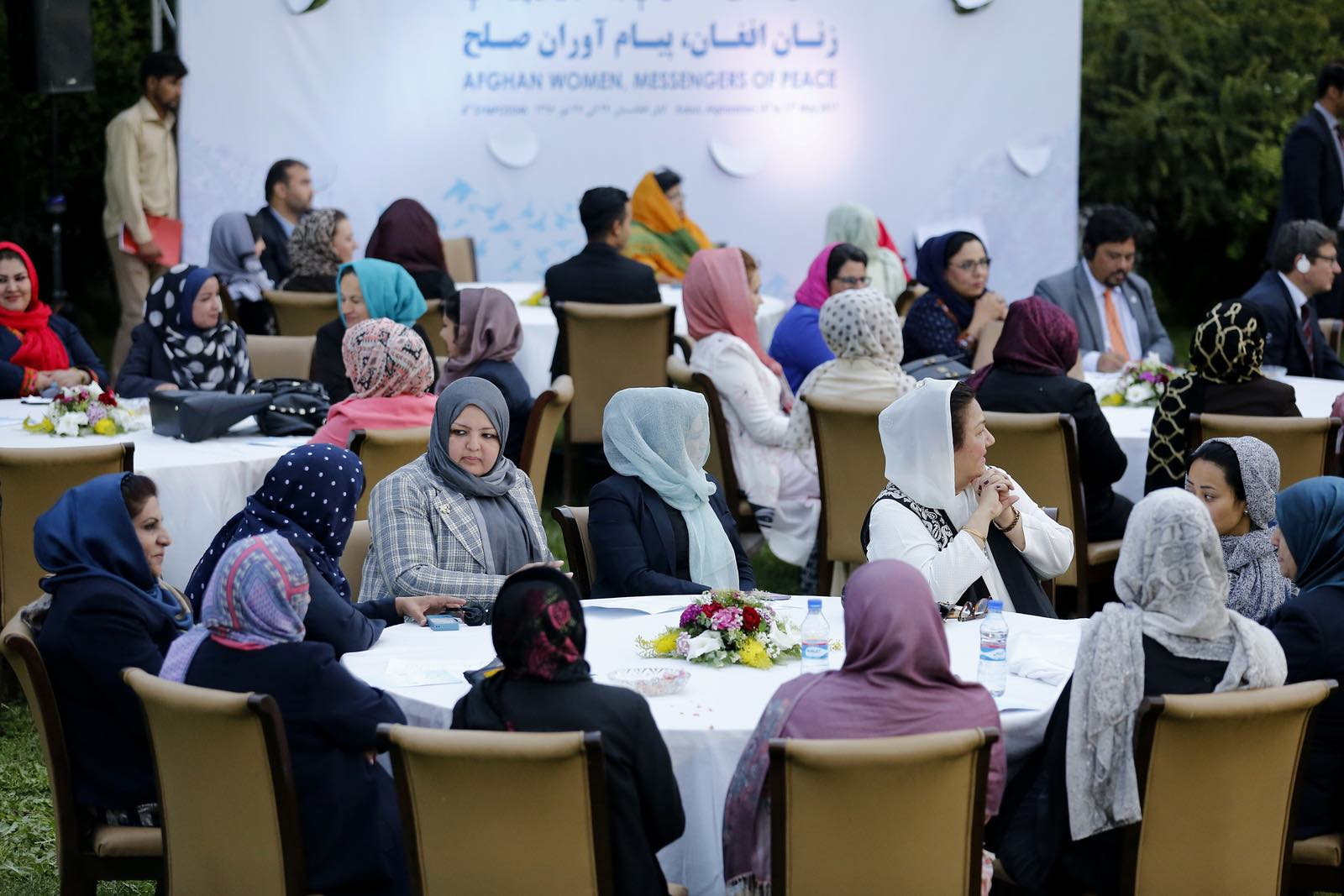 """An """"Afghan Women: Messengers of Peace"""" forum in 2017 hosted in Kabul by Afghanistan's First Lady Rula Ghani (Photo: United Nations)"""