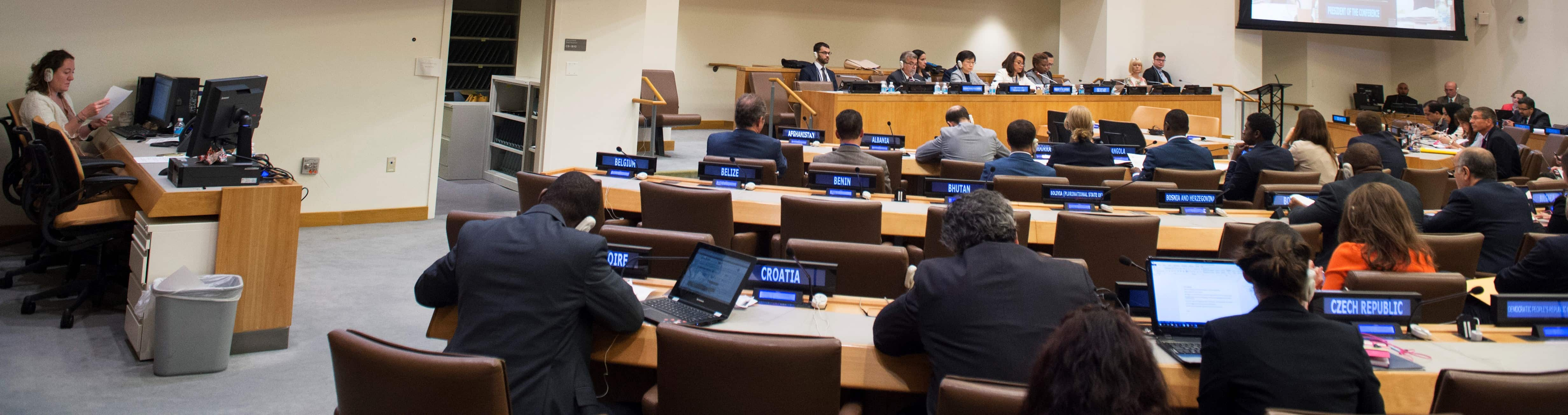 The 2nd Session of the UN Conference negotiating the treaty, July 2017 (Photo: UN)