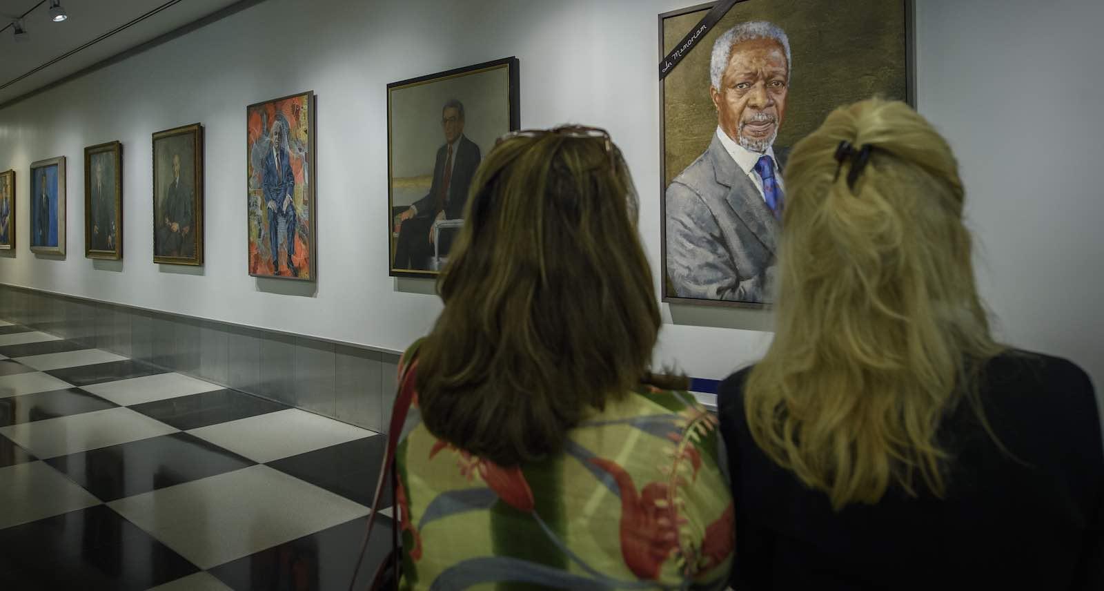 A tribute to Kofi Annan in UN headquarters, New York (Photo: Loey Felipe/UN)