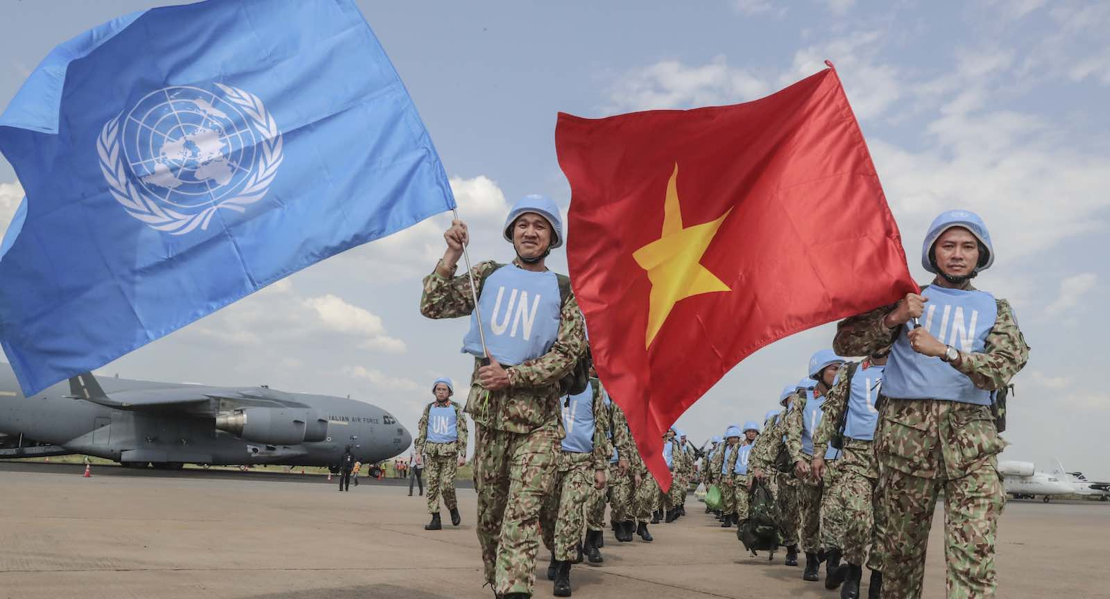 A team of 30 medical doctors from Vietnam arrives in Juba, South Sudan, in 2018 to begin their service with the United Nations mission in the country (Isaac Billy/UN Photo)