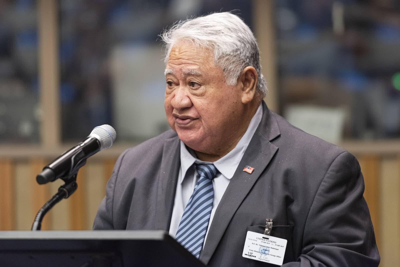 Samoan Prime Minister Tuilaepa Aiono Sailele Malielegaoi (Rick Bajornas/UN Photo)