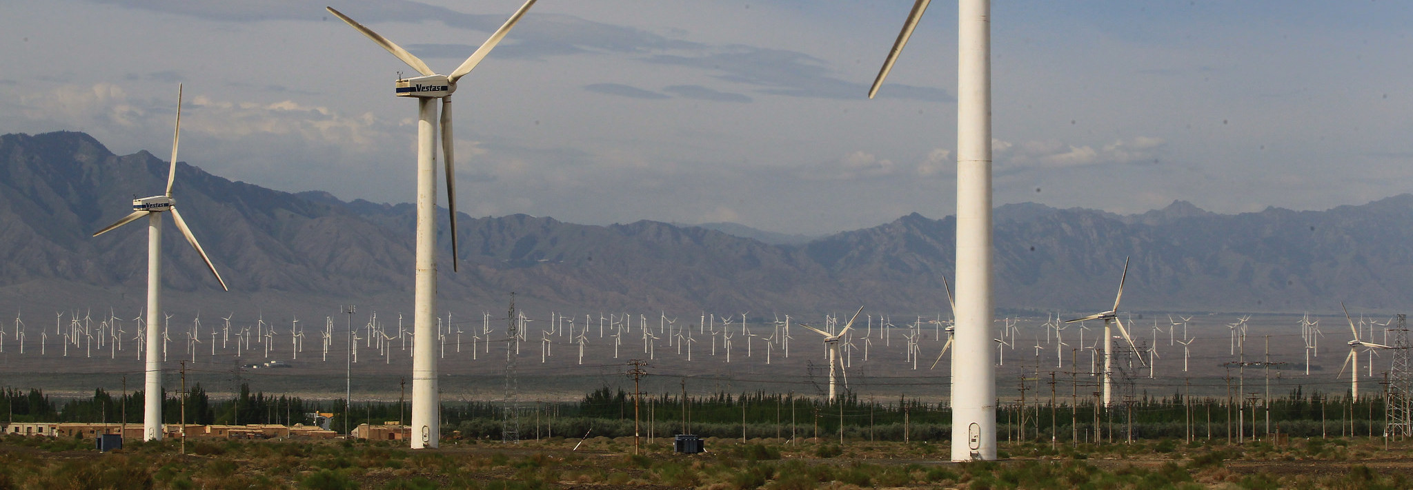 The Dabancheng Wind Farm, China (Photo: ADB/Flickr)