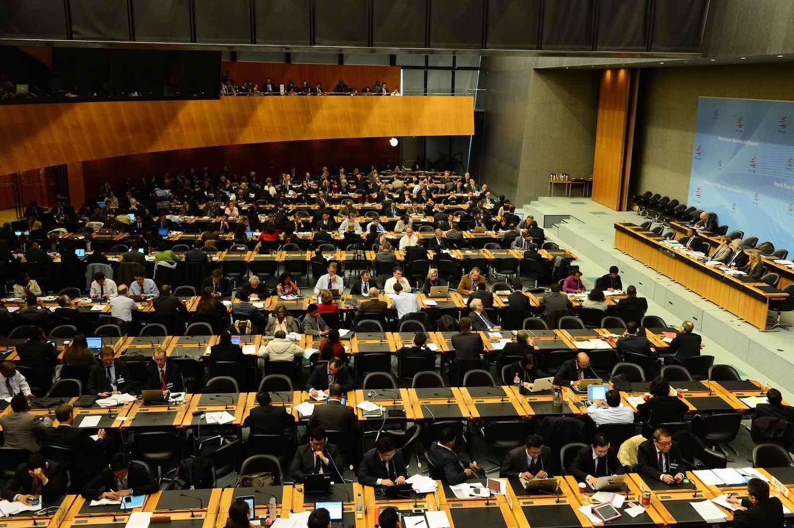 Deliberation in the hall of the World Trade Organisation (Photo: WTO/Flickr)