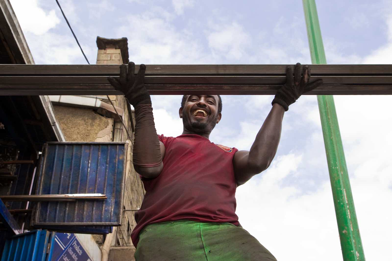 A building boom across Ethiopia is helping to fuel one of the world's fastest-growing economies, growing at an average of 10% annually over the past decade (Photo: Simon Davis/DFID/Flickr)