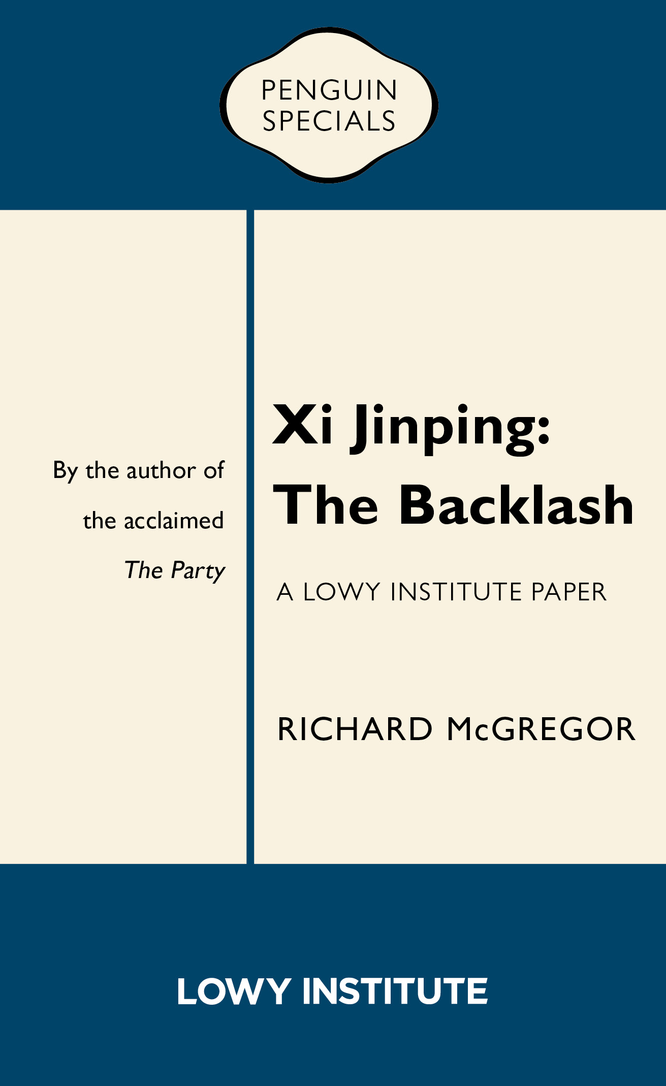 Xi Jinping: The Backlash front cover image