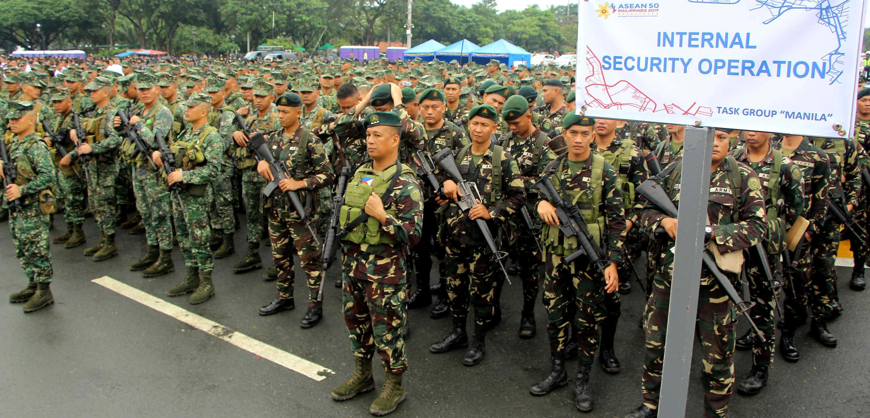 Security forces for the ASEAN Summit, November 2017 (Photo: Gregorio Dantes/Getty Images)