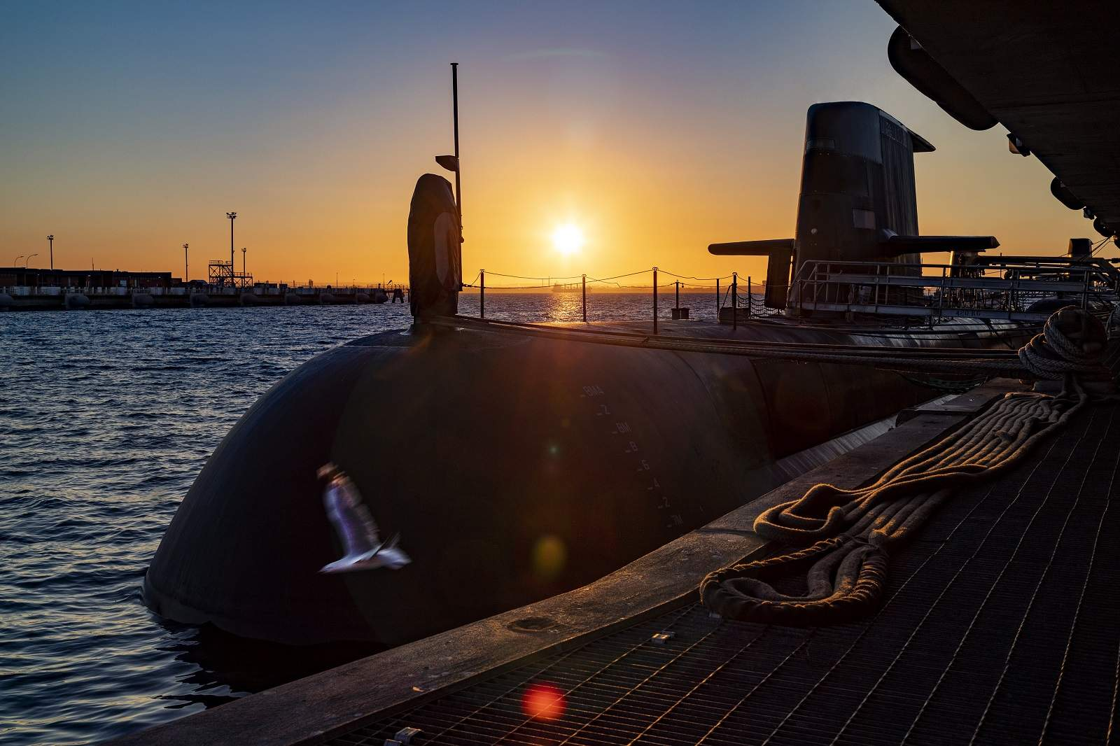 The new AUKUS strategic defence partnership includes a deal to replace the Royal Australian Navy's existing Collins submarine fleet with nuclear-propelled versions (POIS Yuri Ramsey/ADF via Getty Images)