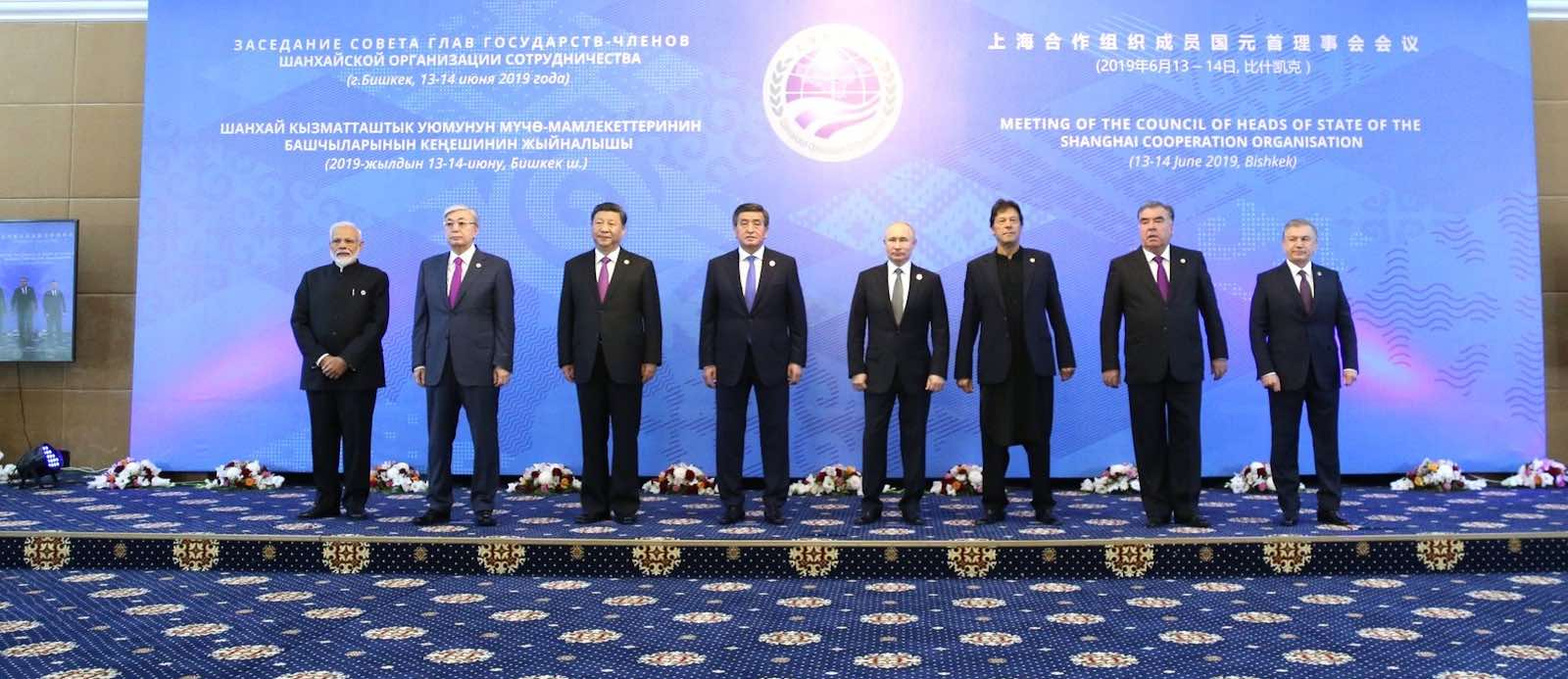 Shanghai Cooperation Organisation's Heads of State Council in June, Bishkek, Kyrgyzstan (Photo: Kremlin.ru)