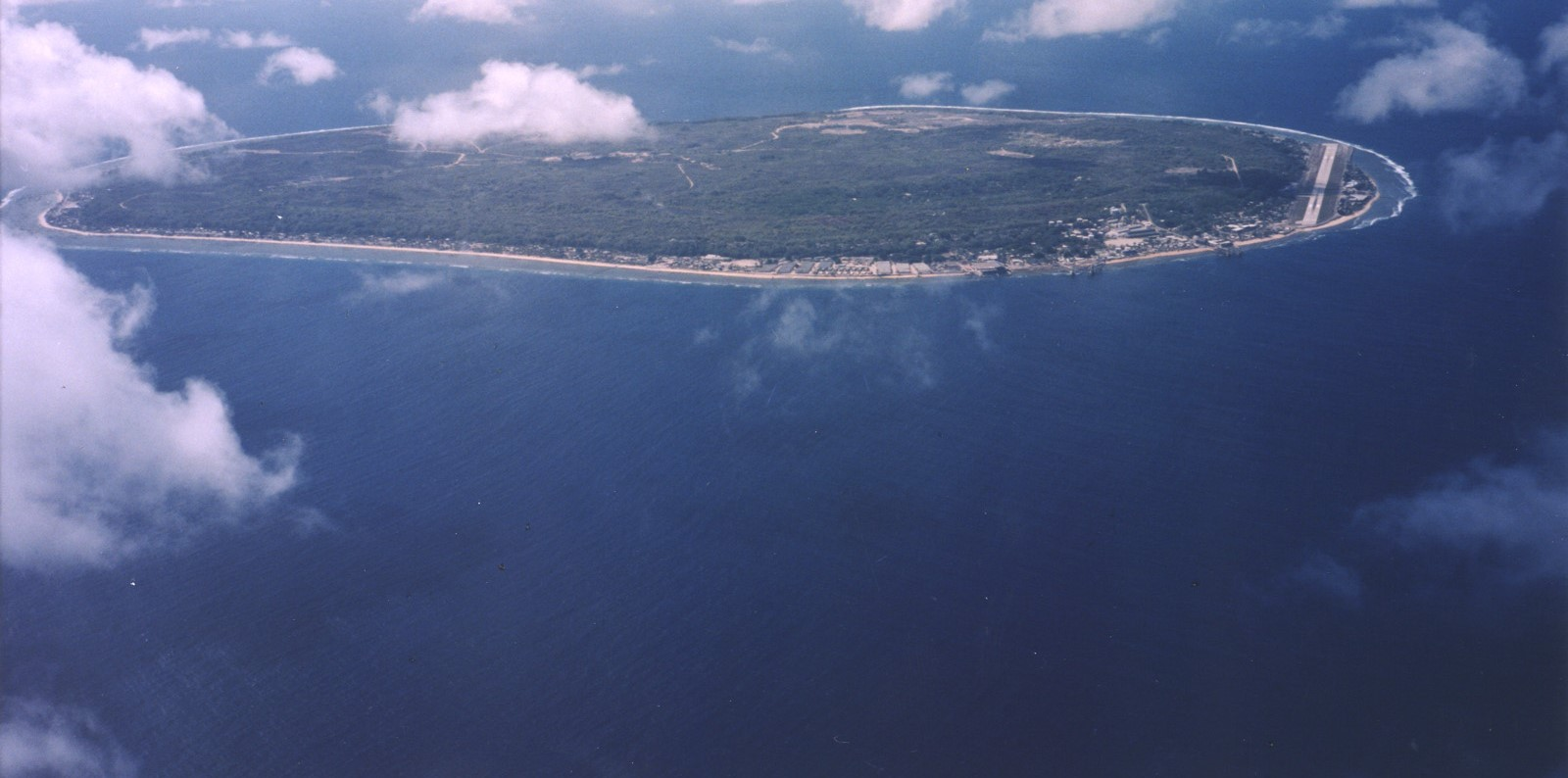 Aerial view of Nauru (Photo: Wikimedia Commons)