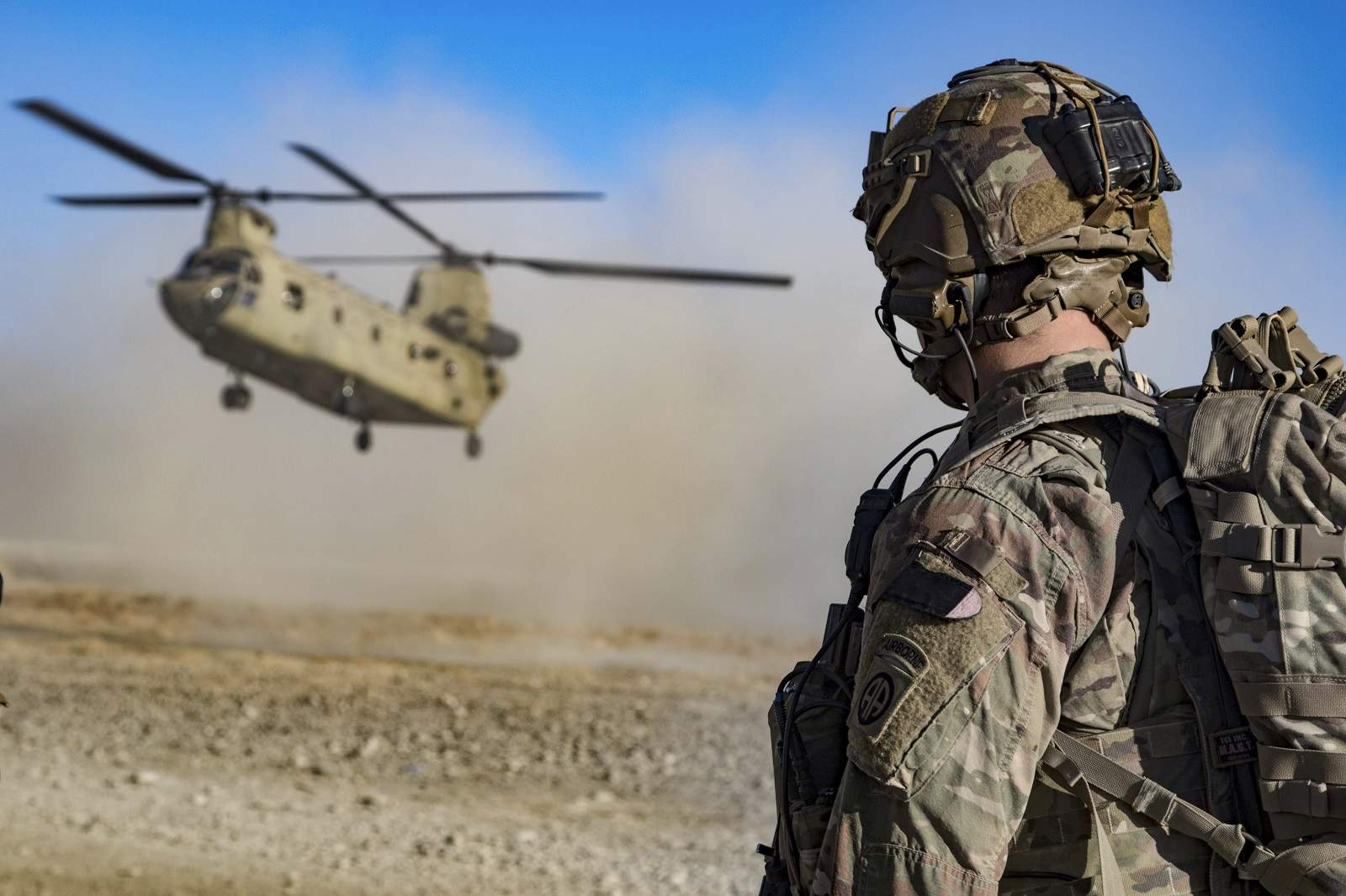 Biden views the costs of the war in Afghanistan as cumulative and has long advocated for a policy that would bring closure. A chinook lands in southeastern Afghanistan, Dec 2019 (Army Master Sgt Alejandro Licea/US Dept of Defense)