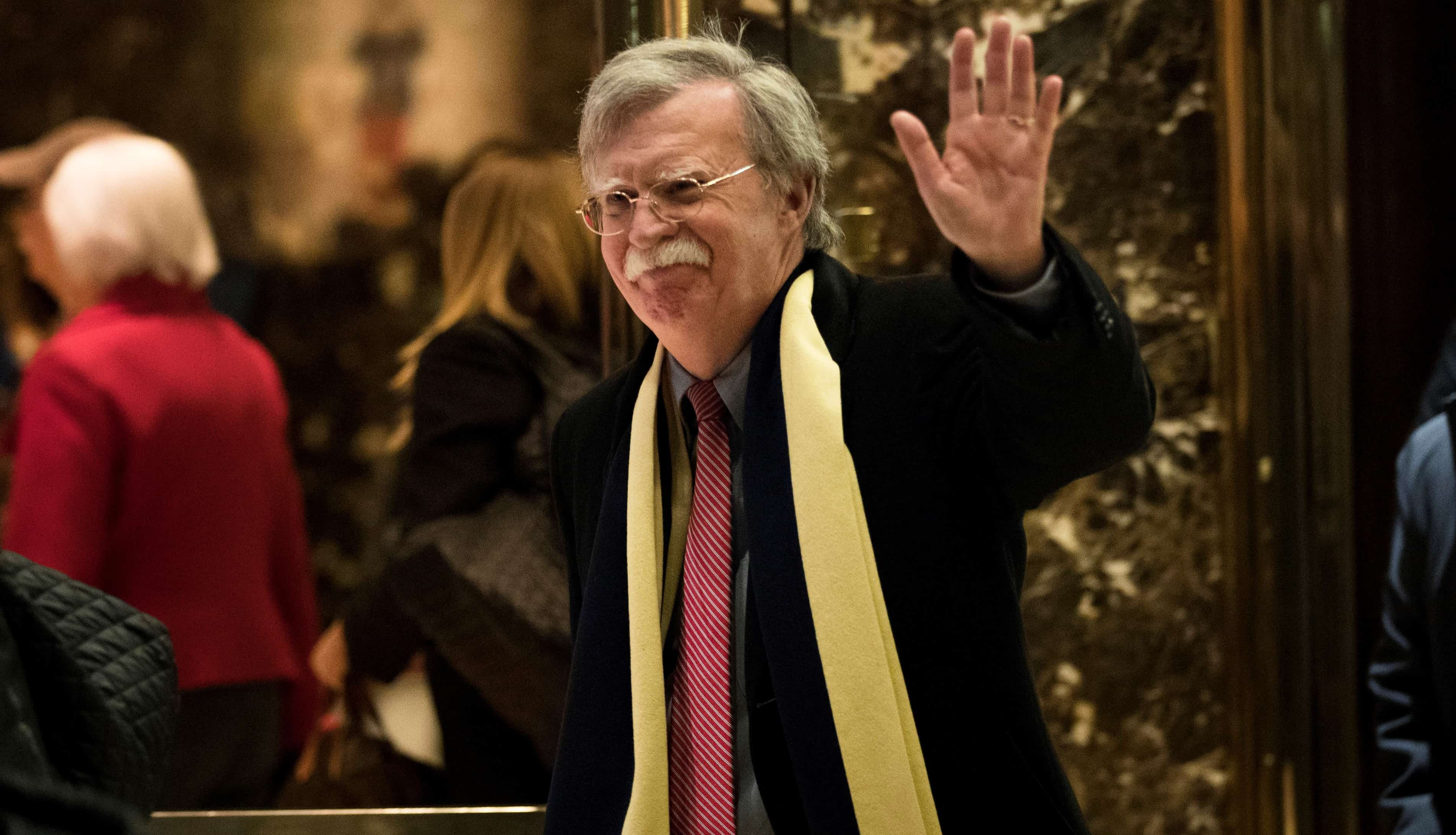 John Bolton at Trump Tower, New York (Photo: Drew Angerer)