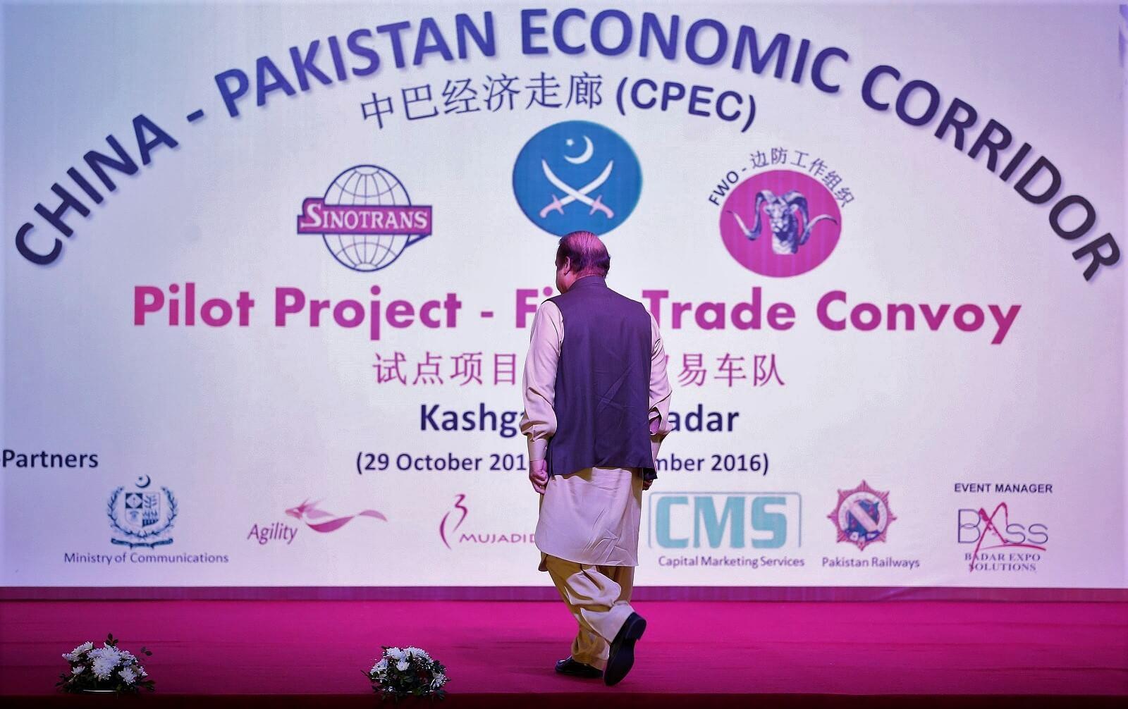 Prime Minister of Pakistan Nawaz Sharif at a ceremony in Gwadar port, 2016 (Photo: Metin Aktas via Getty)