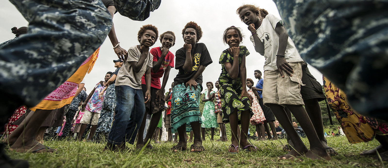 Kids from Bougainville (Photo: US Pacific Fleet/Flickr)