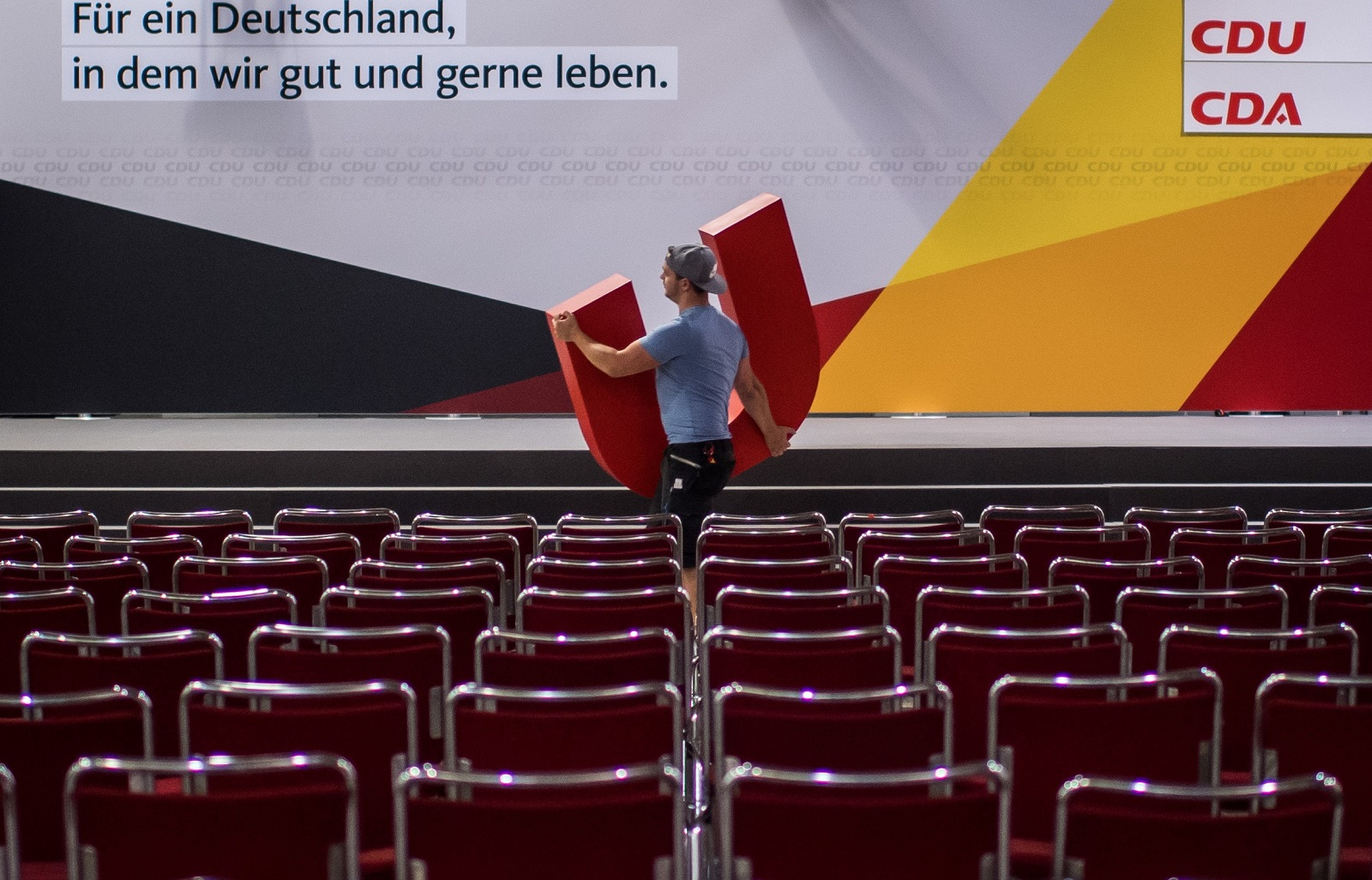The German Christian Democrats Union (CDU) federal election campaign opening rally in Dortmund, Germany.