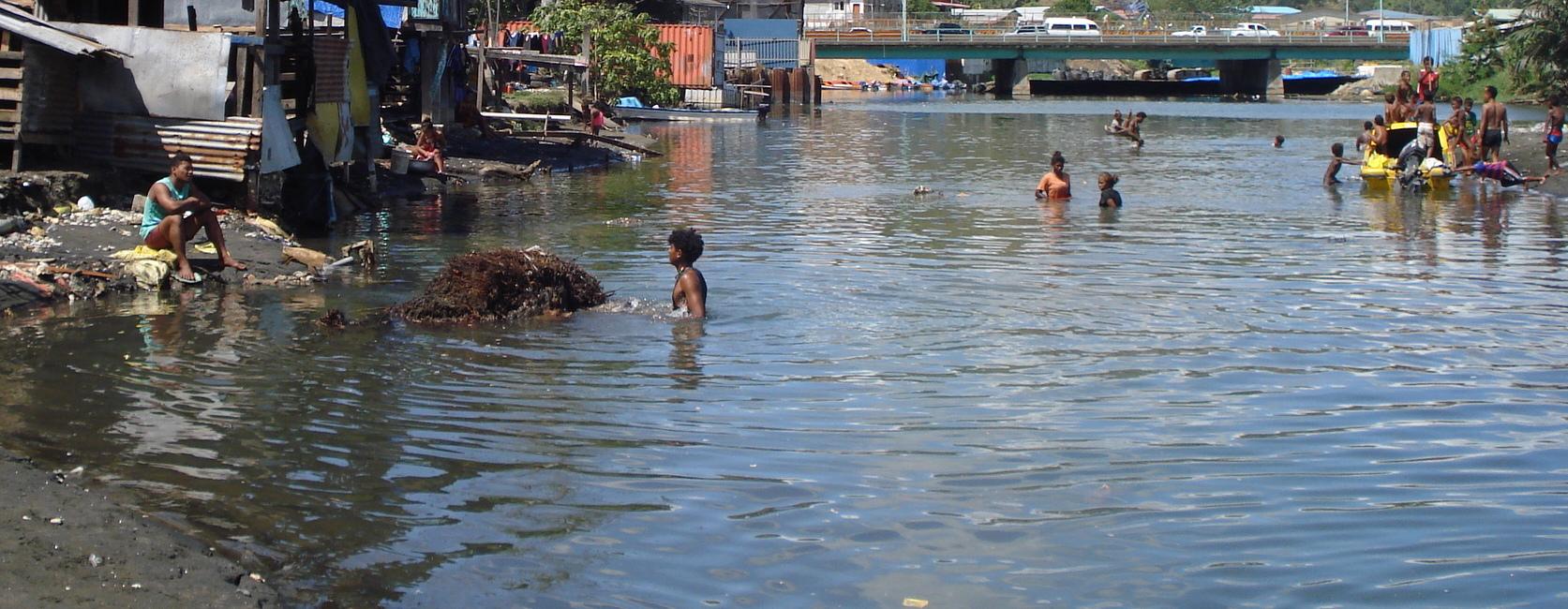 Lord Howe Settlement on the Mataniko River, Honiara (Photo: Catherine Wilson)