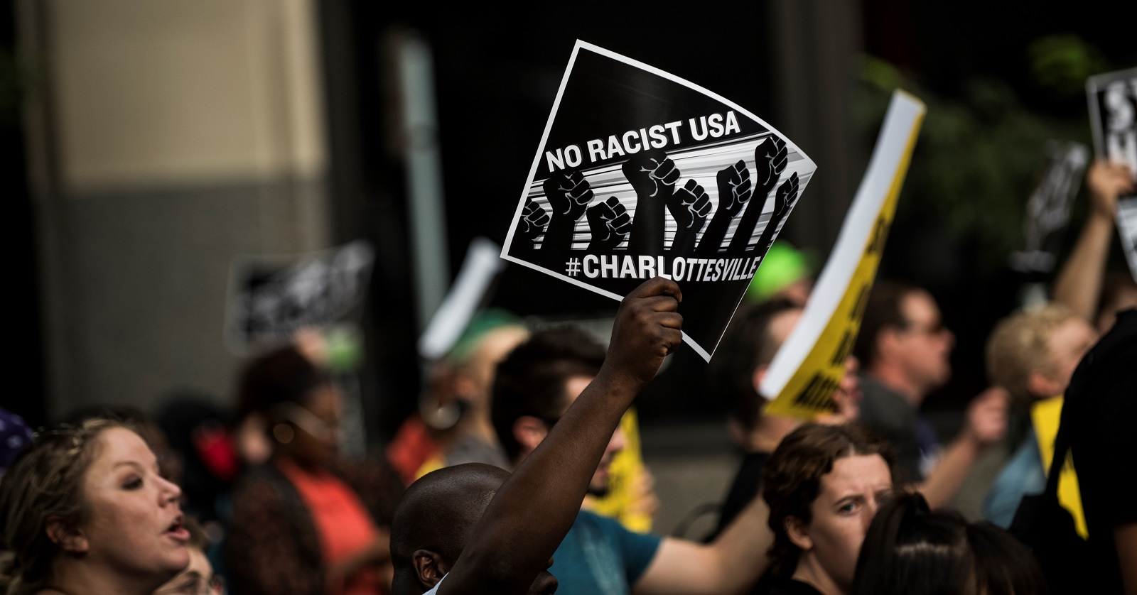 A protest in Minneapolis, Minnesota against racism and the violence in Charlottesville, Virginia. (Photo: Stephen Maturen/Getty Images)