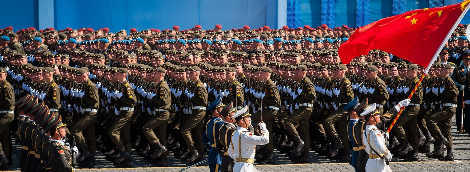 The PLA's 'Battalion of Honour' marched for the first time in Moscow's Victory Day parade in 2015 (Photo: Flickr/Dmitriy Fomin)
