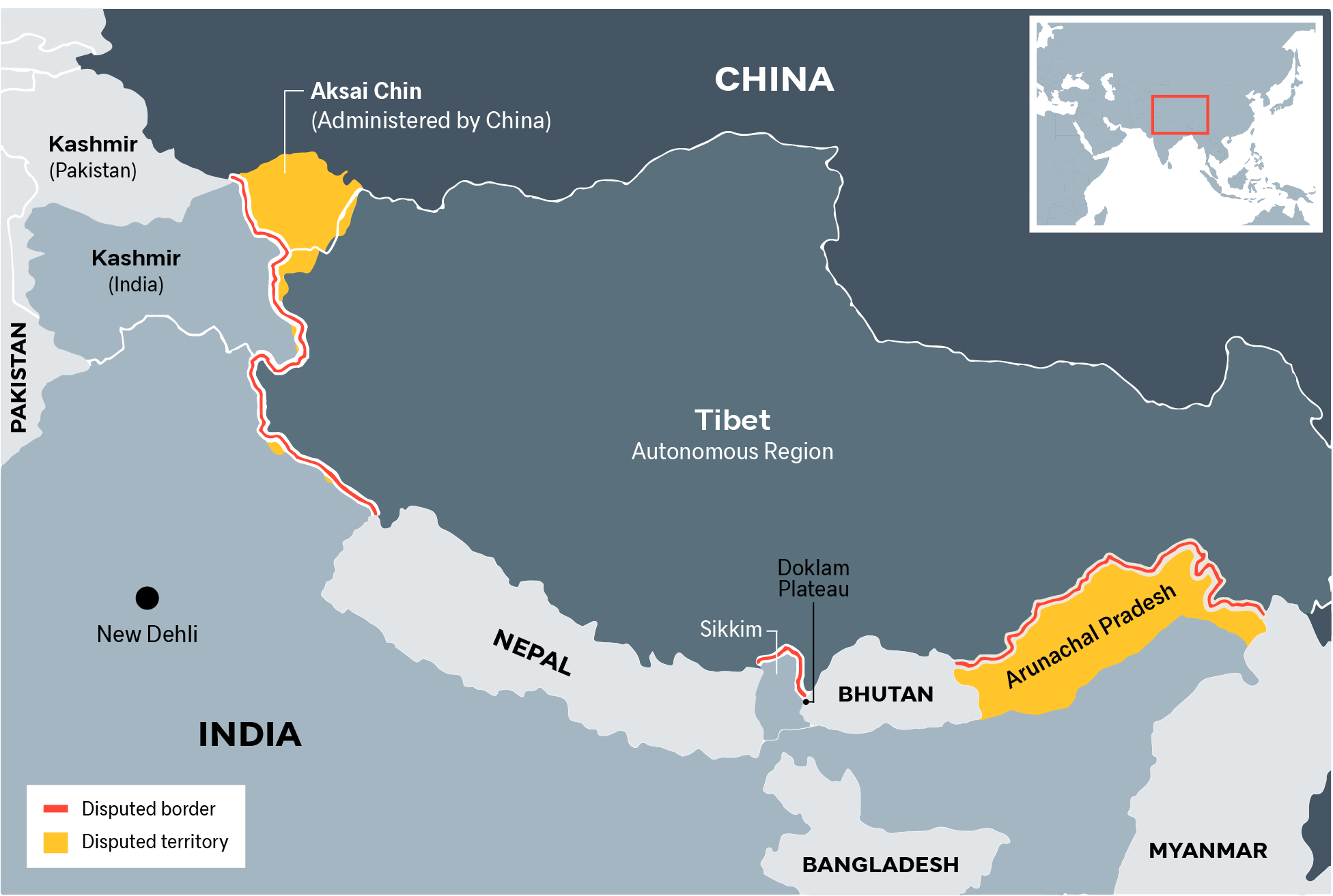 China-India border