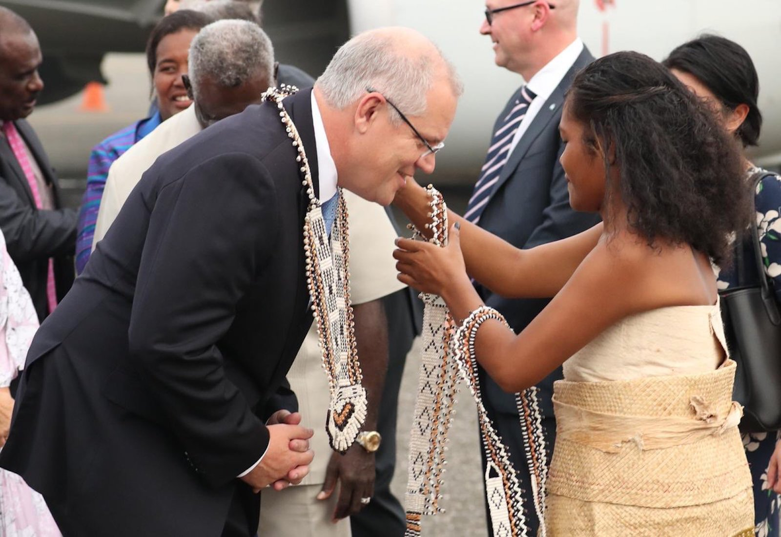 Scott Morrison is welcomed to Solomon Islands this week (Photo: Scott Morrison/Flickr)